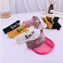 Bonnets de visière en plastique pour bébé chapeaux de soleil nouveau-né
