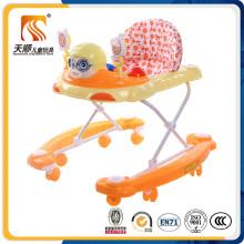 Rodas giratórias plásticas Baby Walker com cinto de segurança