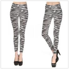 2016 Großhandel Legging Zebra Stripes Frauen Legging