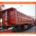 Heavy Duty Tri-Axle 35cbm End Tipper/Dump Truck Trailer