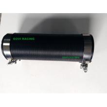 Tubo de admissão de ar de mangueira flexível de plástico de 4 polegadas com grampos de T de 2PCS