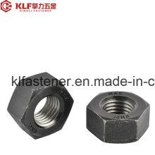 ISO4032 Tuercas hexagonales negras Cl. 8/8/10