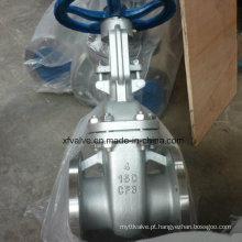 Válvula de porta da extremidade da conexão da flange do aço inoxidável do molde 150lb CF8