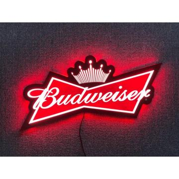 Letrero luminoso LED Budweiser 3D