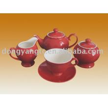Jogo de chá de porcelana por atacado direto da fábrica