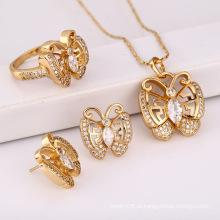 Moda Elegante CZ Cristal Animal Borboleta Jóias Set para Women's Melhor Presente --61656