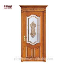 Stilvolles Holz Glas Balkon Innen Holz Tür Design angepasst