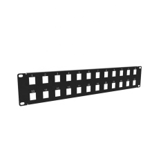 2U 24 Ports Blank Panel for Keystone Jack