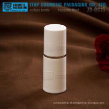 Impressão e cor de rigoroso controle de qualidade de 15 ml de ZB-QC15 personalizado 15ml branco delicado em massa plástica biodegradável contai cosméticos