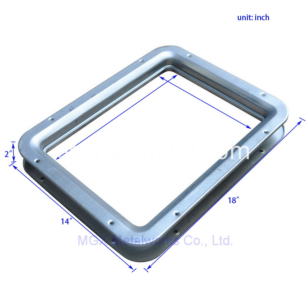 VLFS0001 14 x 18 Inches Square Vision Panels For Fire Doors Size