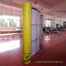 Hot sales light weight single aluminum frame magnetic pop up backdrop for trade show