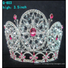 Corona grande del desfile de la tiara caliente de la joyería del rhinestone de la venta al por mayor 2016
