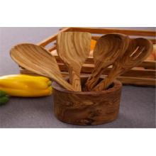 Olive Wood Utensil Pot/Holder