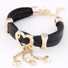 Bracelets Charm avec Multilayers Bracelet en cuir Love Heart FB03
