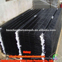 All Black PVC Coated Wire Mesh Fence Panel