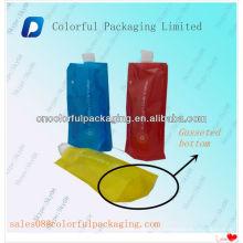 Levante-se bolsa de bico de suco com pendurar buraco / Stand up saco de bico de água potável / Stand up pouch com bico