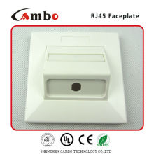 China Manufacturer Low Price Single Port Faceplate Apply to ul194v-o high-impact fire-retardant ABS