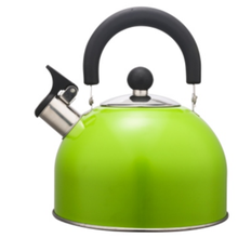 Lukisan warna 1.5L Stainless Steel Teakettle warna hijau