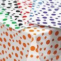 Drap de table carré en plastique brillant