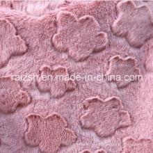 PV Warp Velvet Plush Fabric Brushed Flower Clouds Designs