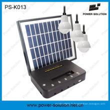 Kit solaire d'ampoules du panneau 3PCS 1W SMD LED de 4W avec la fonction de chargeur de téléphone (PS-K013)