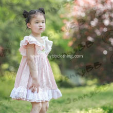 little girl boutique pink lace flower easter dress