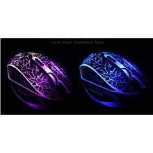 Neue USB 2.0 verdrahtete Spiel-Maus, 7 Farbe blenden helles Spiel verdrahtetes Maus-LED-Licht