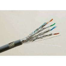 Cat7 SSTP Shielded Solid Copper Ethernet Cable with Data 10g/600MHz