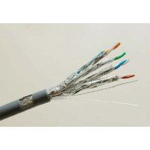 Cat7 SSTP Blindado cabo de cobre sólido Ethernet com dados 10g / 600MHz