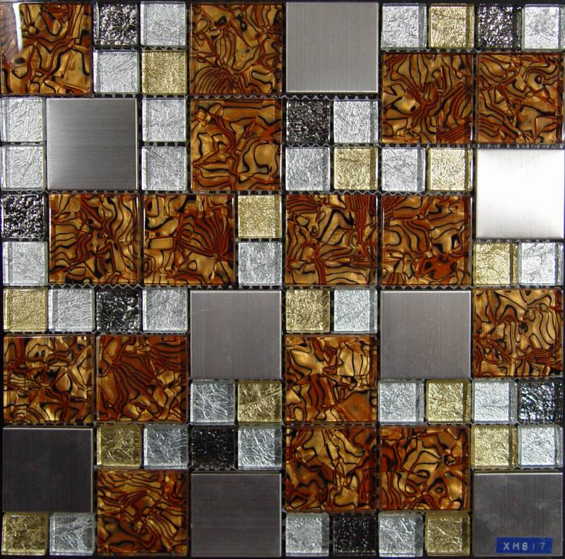 Golden Foil Glass Mosaic