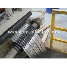 tôle en acier machine ligne avec dérouleur et enrouleuse de refendage