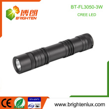 Factory Wholesale Emergency Night Usé Outdoor High Power 3W Cree led rechargeable 18650 torche torche torche