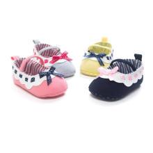 Мода Бантом Мягкой Подошвой Детская Обувь Младенческой Малыша Мокасины