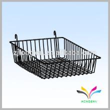 hot sale wihte price holder cube floor style metal wire fruit food display basket