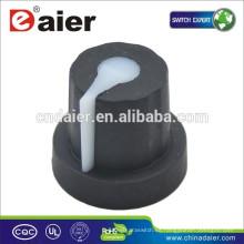 KN-1614 DAIER Potenciómetro 6mm Perillas de la Perilla de Goma Negra Perilla del Potenciómetro