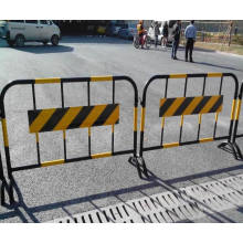 Revêtement en poudre barrière temporaire barrières de contrôle à fentes, barrière de trafic