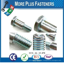 Made in Taiwan Short Shoulder Carriage Hex Washer Head Special Shoulder Screw Bolt
