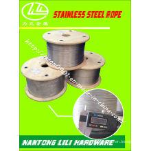 Corda de aço inoxidável Corda de aço inoxidável Corda de aço Fio de aço inoxidável
