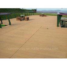 Preço de fábrica Plástico de madeira maciça Composto WPC Decking