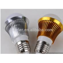 Ce rohs 2 años de garantía 3w aluminio e26 / e27 / b22 llevó bulbos al por mayor