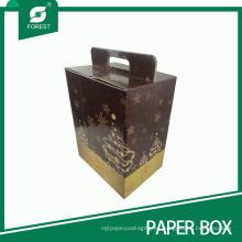 Caja de regalo promocional impresa color de encargo del vino de la Navidad
