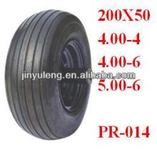 "Pneumatic Rubber wheelbarrow tyre 10""x4.00-4"