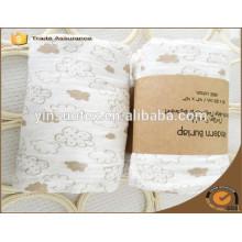 Papier verpackt Bio-Baumwoll-Material Babydecke mit günstigen Preis
