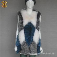 Venta al por mayor de la fábrica Venta al por mayor personalizada conejo de piel de conejo Fox chaleco