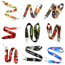 Polyester Sublimation Funny Logo Neck Lanyards with Mobile Cleaner for Promotional Gift