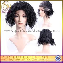 Alle Express Ausgezeichnete Günstige Kurze Länge Afro Curl Lace Perücke
