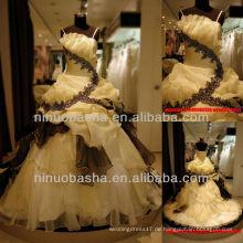 Q-6249 Abschlussball-Kleid-Organza-Partei-Kleid-Fußboden-Längen-gelegentliches Rock-Brautkleid