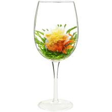 Liebes-Teebloom-Herz-geformte blühende Tee-Blumen der roten Lilie mit Pfirsich-Aroma