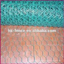 ПВХ покрытием проволоки сплетенная шестиугольная сетка мелкоячеистой сетки плетения цыплятины ограждая