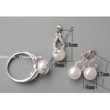 Комплект Gets.com 2015 способа 925 стерлинговый серебр установленный комплект ювелирных изделий девушки